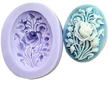 Molde de Silicona 3.9cm Diseño Flor - Para Decoración Repostería Tartas Pasteles - Allforhome: Amazon.es: Hogar
