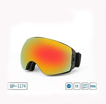 DUBAOBAO Gafas De Esquí De Doble Capa Convertible Película Completa Galvanoplastia True Revo Polarizado Anti-
