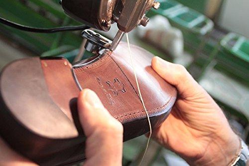ab328f4725fda Grandiscarpe Calzature Artigianali Eleganti Uomo Bordeaux Lucido Taglia 45   Amazon.it  Scarpe e borse