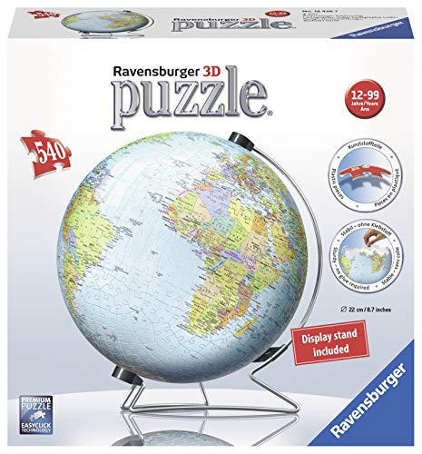 Ravensburger The Earth 540 Piece 3D Jigsaw Puzzle for Kids and Adults - Easy Click Technology Means Pieces Fit Together Perfectly ()