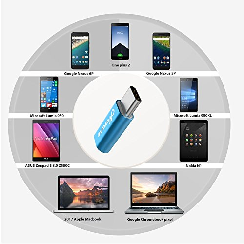 Novane Micro USB to type c adapter, [3 colors pack], USB 3.1, USB 3.0 Data Syncing and Charging, For Samsung, HUAWEI, XIAOMI, MOTO, Google Pixel etc. Android mobile cable, charger