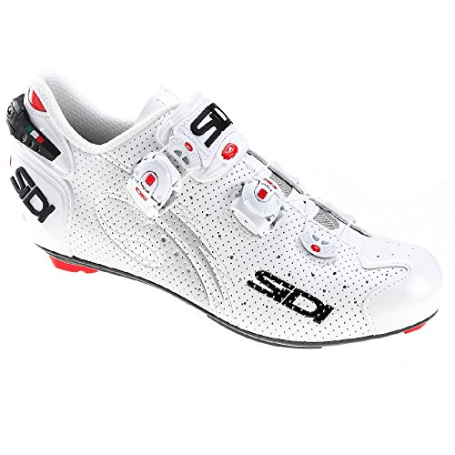 Sidi Wire Carbon Air Vernice Road Shoes (40, White/White) (Sidi Wire Carbon Air Vernice Road Shoes 2015)