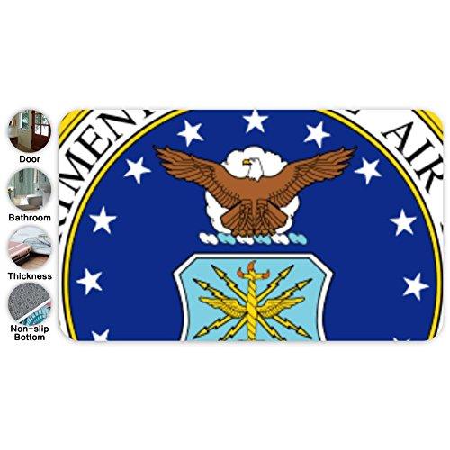 Custom United States Air Force Seal Machine-Washable Outdoor/Indoor Doormat 18