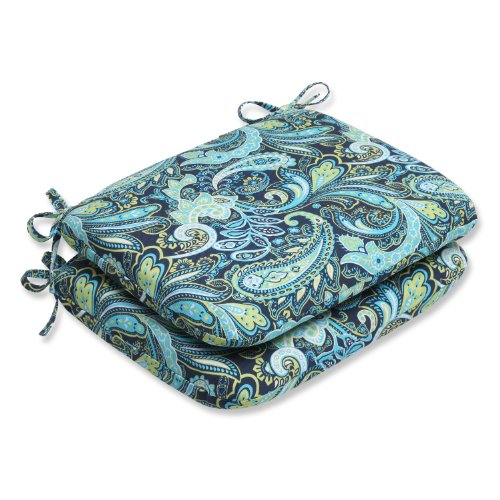 Pillow Perfect Outdoor Paisley Rounded