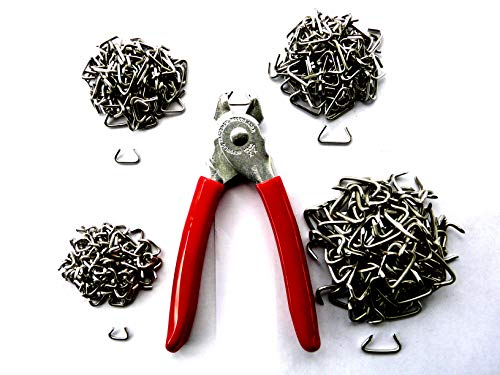 (MRO hog Ring Fasteners kit - USA Made Stainless hog Rings in Four Sizes - 100+ Each Size)