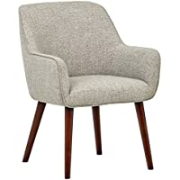 Rivet Julie Mid-Century Swope Accent Dining Chair, 23.6 W, Light Grey