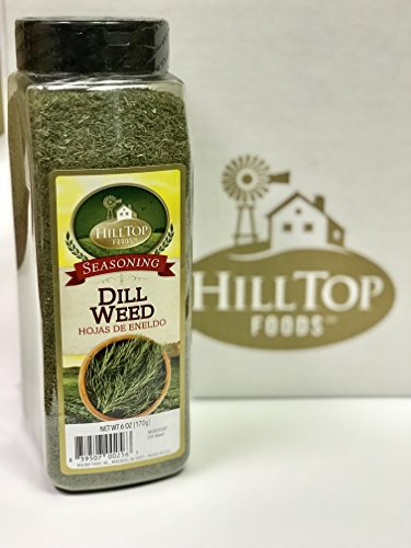 Spices Dill (Hilltop Foods Dill Weed 6oz Container)