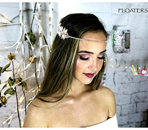 Forehead Band, Bridal Headpiece, Boho Hair Jewelry, Chain Headband, Women's Hair Accessories, Vintage Hair Piece by Hair Floaters