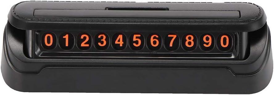 Ourleeme Schwarzes Auto Telefonnummer Vorübergehender Parkplatz Kennzeichenhalter Für Den Innenbereich Auto