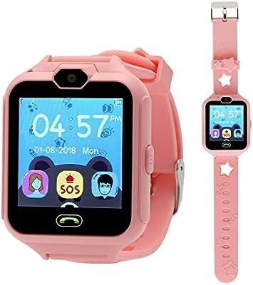 Winnes - Smartwatch para niños, Reloj móvil para Juegos, Pantalla táctil, con cámara de Reloj, botón SOS, Reloj Inteligente (CS05015 Rosa)
