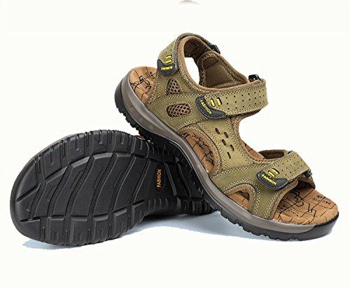 uomo da khaki Sandali Beach Pantofole Sandali NANXIE uomo uomo Fisherman Scarpe vera pelle da Pakamo da Outdoor Estate in Antiscivolo Uxq1E5wHq