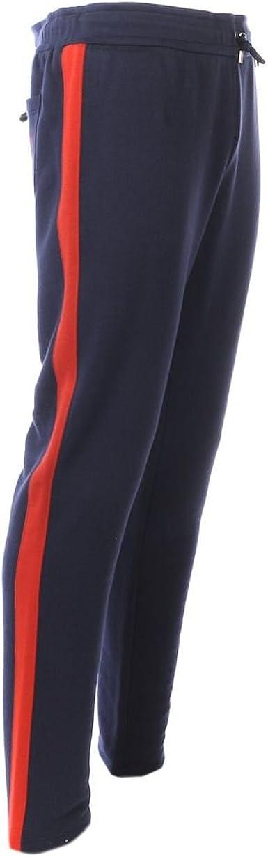 Pantalones de GUCCI azul pantalones de chándal rojo diseño de ...