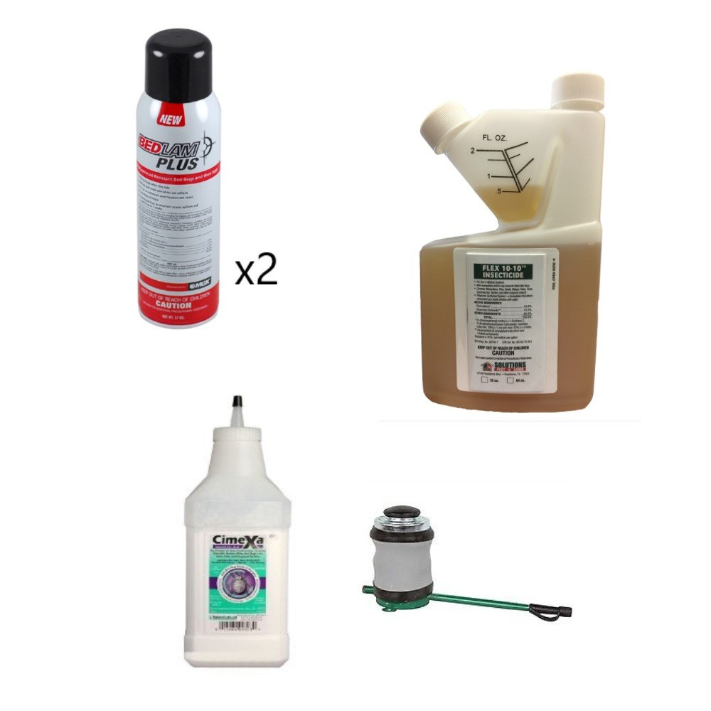 Bed Bug Control Kit with Flex 10-10 (2) Bedlam Plus Cimexa Dust Bellows Hand Duster