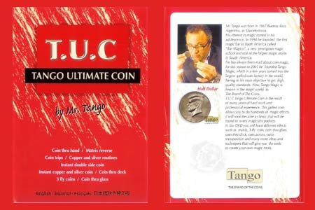 - Tango Ultimate Coin (T.U.C) Half dollar with instructional DVD by Tango