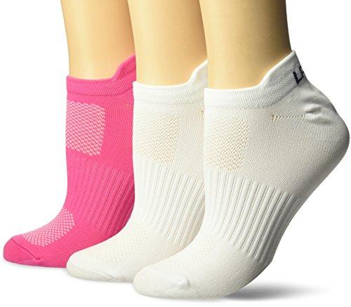 LPGA SOCKS and LEGWEAR Women's The Gripper Socks (3 Pair), Size 9-11, Pink