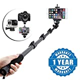 Captcha QT-588 Professional High End Wireless Bluetooth (Mobile/Camera Stick) Monopod Selfie Stick Suitable with all Android or Iphone Devices (1 Year Warranty, Color May Vary)