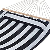 AmazonBasics Pillow Top Hammock, Blue and White