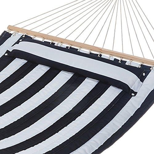 (AmazonBasics Pillow Top Hammock, Blue and White)
