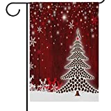 Best Garden-Outdoor Coffee Beans - Christmas Tree Coffee Beans Garden Yard Flag Banner Review