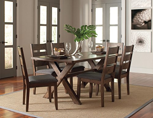 Coaster 106381-CO Alston Dining Table, Knotty Nutmeg -