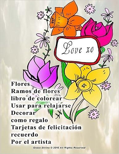 Amazoncom Flores Ramos De Flores Libro De Colorear Usar Para - Fotos-ramos-de-flores