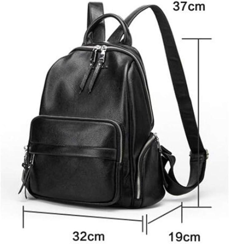 Color : Black, Size : 321937cm KJVHJN Womens Backpack Leisure Fashion Cowhide Simple Shoulder Bag College School Bag