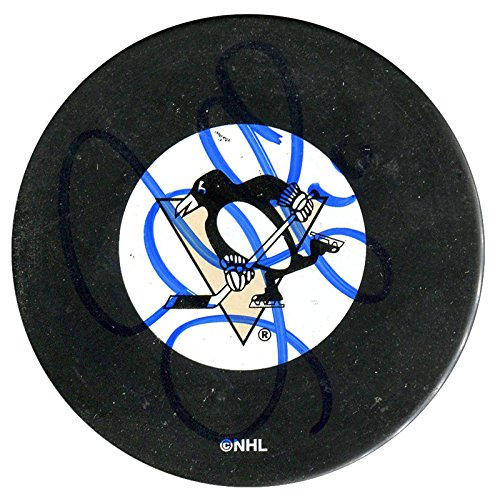 Gary Roberts Autographed Pittsburgh Penguins Puck