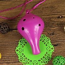Voiceless plastic ocarina 6 hole alto C tone ethnic musical instruments,purple