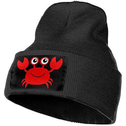 Beanie Hat Knit Hat Cap Red Crab Unisex Cuffed Plain Skull Knit Hat Cap Head Cap Black ()