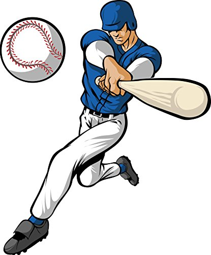 Winn Baseball Player wall Decal Cutout 40