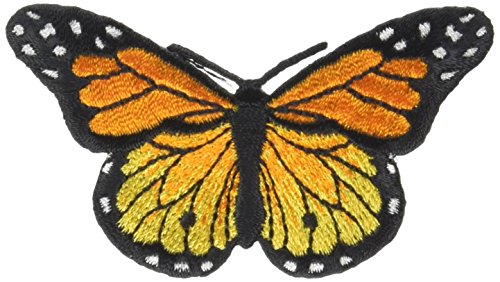 "Wrights Iron-On Appliques -Monarch Butterfly 3""X1-3/4"" 1/Pkg"