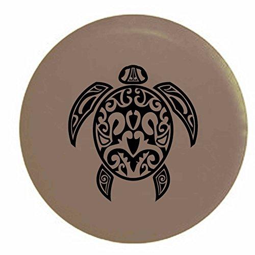 (Pike Sea Turtle Diving Beach Marine Life Trailer RV Spare Tire Cover OEM Vinyl Tan 31 in)