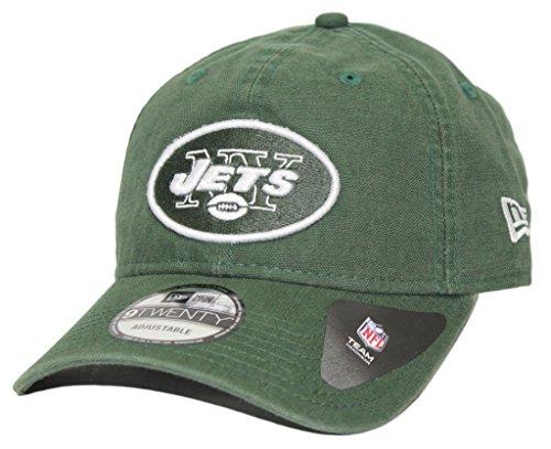 NFL New York Jets Adult Men Core Classic Primary 9Twenty Adjustable Cap, One Size, Green (New Era Canvas Cap)