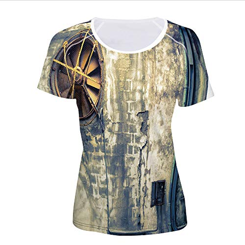 T-Shirt,Wall Image Destruction Vandalism Broken Deserted,Women 3D Print