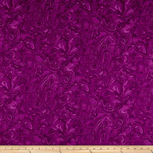 (Benartex Piece & Joy Marbella Plum Fabric by the Yard)