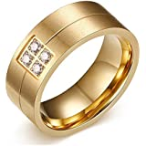 The New Mens Ring 18k Gold Titanium Ring Wedding Rings Engagement Rings Wholesale R-060