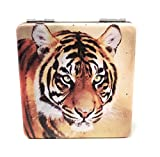 Valuearts Tiger Purse Pocket Mirror - 2 in 1 With 2X Magnification