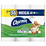 Charmin Ultra Gentle Toilet Paper 9 Mega Rolls (pack of 4)...