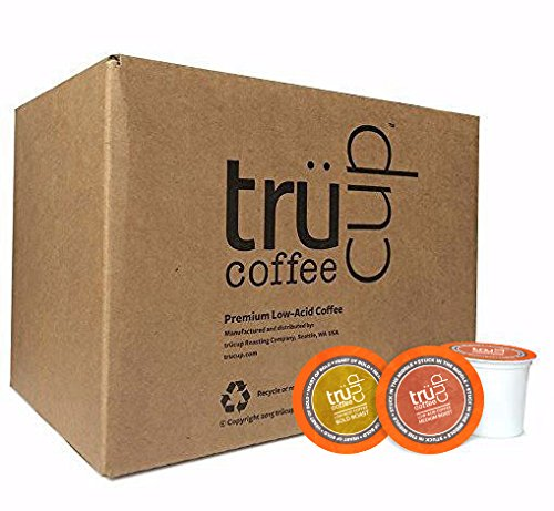 trücup Low Acid Coffee K-Cups, Medium & Bold Roast Combo Pack, 60 Count (Recyclable) by TRUCUP