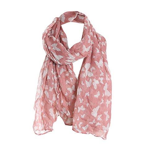 (Scarf For Women Clearance,Farjing Women Print Pattern Lace Long Scarf Warm Wrap Shawl(Free Size,Pink))