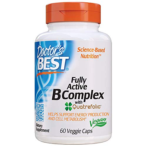 Doctor's Best, Fully Active B Complex Supports Energy Nervous System Optimal Health Positive Mood Wellbeing NonGMO…
