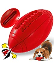 Tough Dog Toys for Aggressive Chewers Large Breed, Apasiri Squeaky Dog Toys Ball, Aggressive Chew Toys for Large Dogs, Puppy Teething Toys, Durable Indestructible Pet Toys (Red)