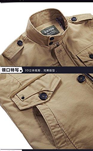 Giacca N5087 Camicia Uomo khaki Yyzyy wUTHSqq