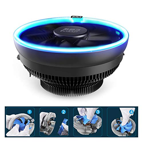 Pccooler 12cm CPU Cooling Fan with LED Aperture PWM Silent Cooler Hydraulic Bearing 3pin CPU Cooling Radiator
