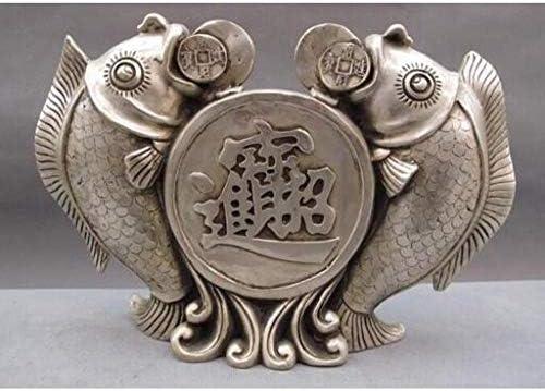 Escultura decorativas estatuas decoración cobre china plata lucky feng shui moneda 5