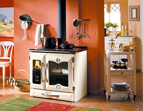 wood-cook-stove-la-nordica-suprema-cream-made-in-italy