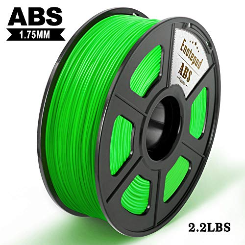 3D Printer Filament ABS, 1.75mm ABS Filament 1kg Spool, Dimensional Accuracy +/- 0.02mm, Enotepad ABS Filament for Most 3D Printer, Green