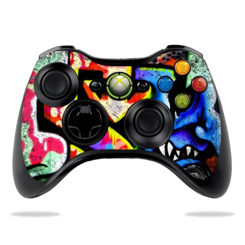 Protective Vinyl Skin Decal Cover for Microsoft Xbox 360 Controller wrap sticker skins Loud Graffiti