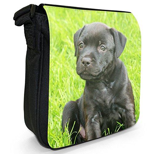 Dog Puppy Bull Staffy Canvas Little Black Size Small Shoulder Staff Staffordshire Bag Terrier U6IWpaqU7