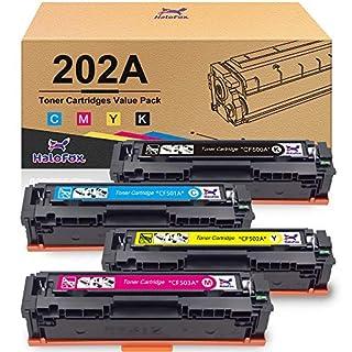 HaloFox Compatible Toner Cartridge Replacement for HP 202A 202X CF500A CF500X for Laserjet Pro MFP M281fdw M254dw M281cdw M281 M281dw M280nw Toner Printer (Black, Cyan, Magenta, Yellow)